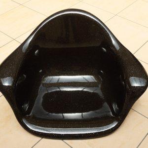 Fauteuil design noir pailleté
